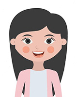 Girl cartoon icon. Kid childhood little people and person theme. Isolated design. Vector illustration